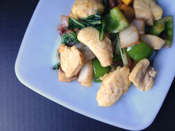 curried chicken and vegetables