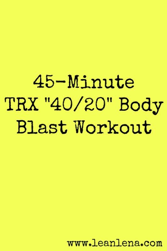 TRX Class Plan: Miles – 45 Minutes