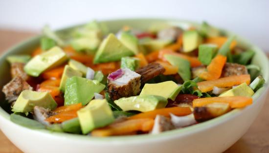grilled pork avocado salad
