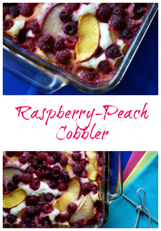 Raspberry and Peach Cobbler5