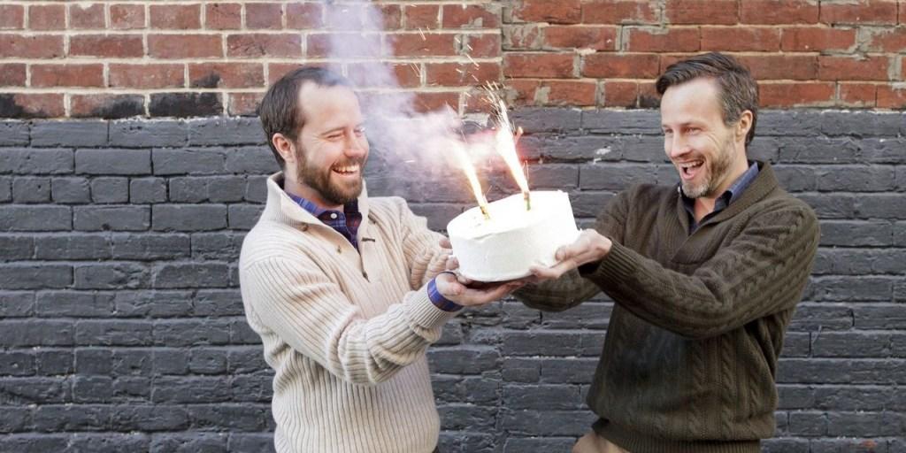 Ledbury founders, Paul Watson and Paul Trible celebrate winning at e-commerce. | Photo credit: Ledbury