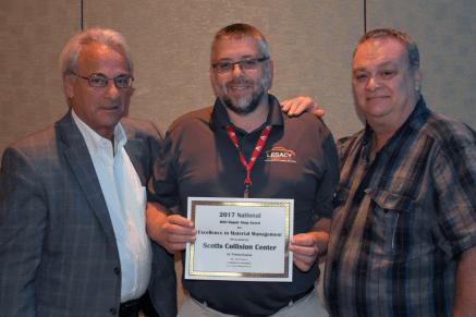 Ray Fratella Axalta Collision Services, Matt Dewalt Scotts Collison Center Pennsylvania, Jim Compton J. Hunter & Associates.