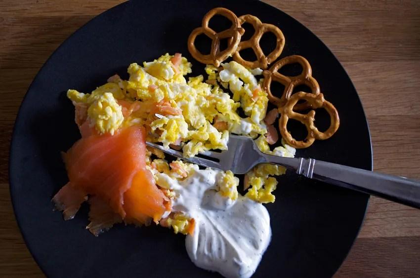 smoked salmon eggs