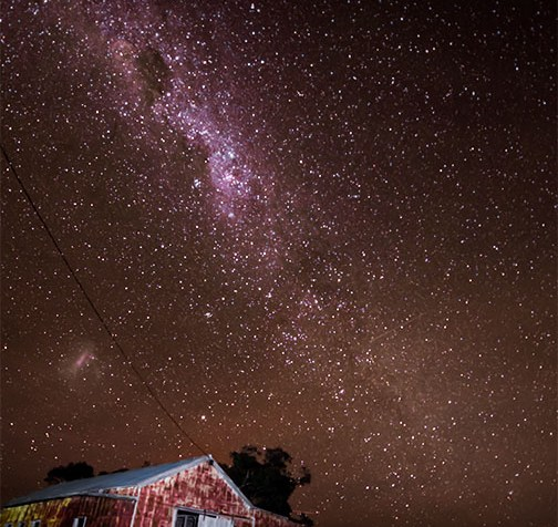 Milky Way Over the Old Shearing Shed in Woomelang