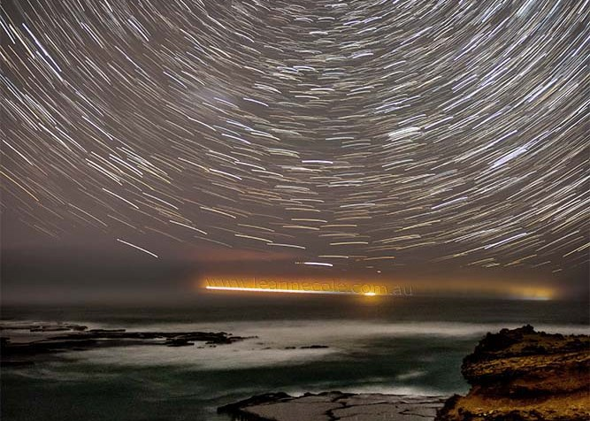 My first attempt at star trails down at Sorrento