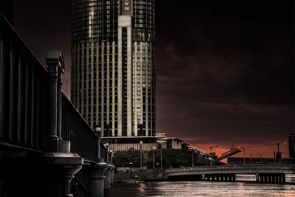 bridge-river-crowncasino-sunset-melbourne