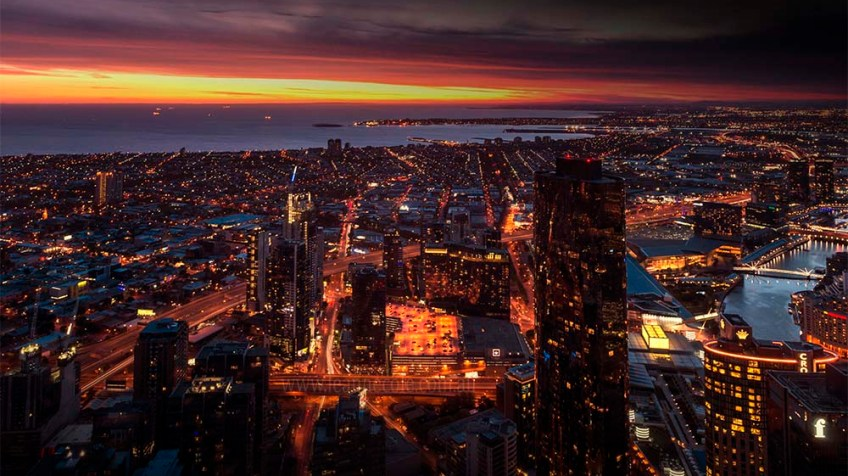 view-melbourne-eurekaskydeck-night-sunset