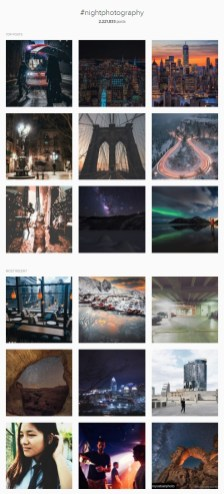 All the photos that use the hashtag for nightphotography