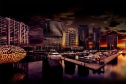 docklands-webbbridge-longexposure-sunset-melbourne