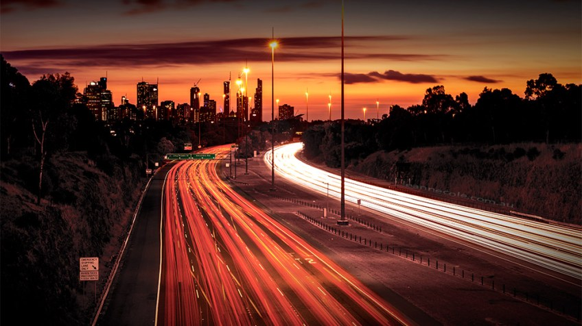 lighttrails-eastern-freeway-melbourne-sunset