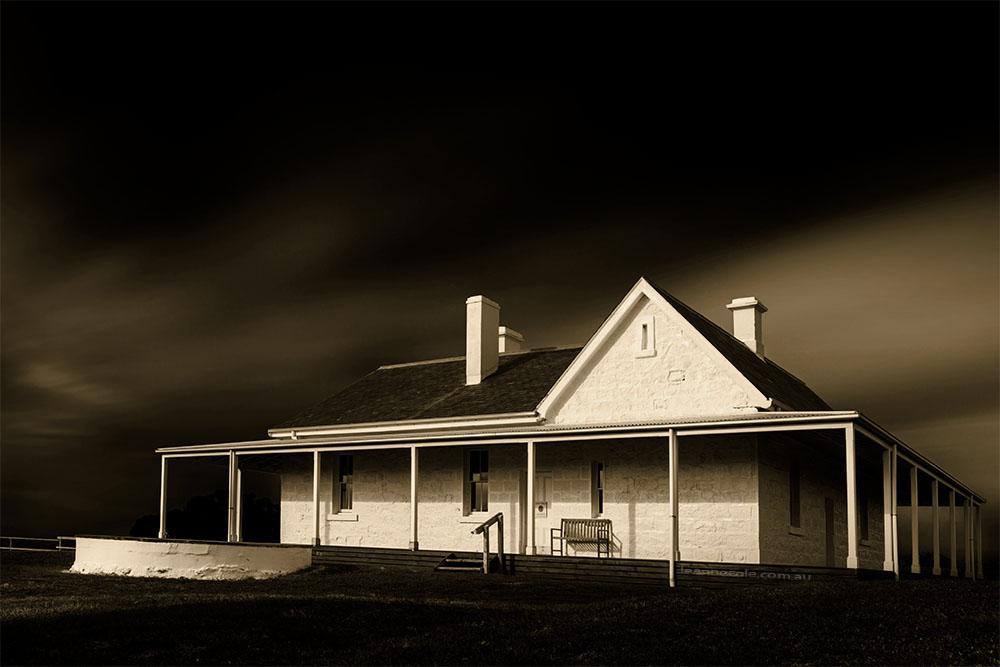 cape-otway-telegraph-house-monochrome