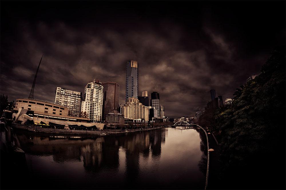 cityscape-melbourne-yarrariver-fisheye-samyang