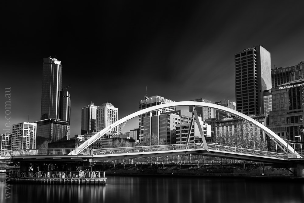 Even Walker Bridge, Melbourne - Learning about long exposure photography