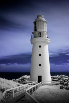 lighthouse-capeotway-infrared-greatoceanroad-australia