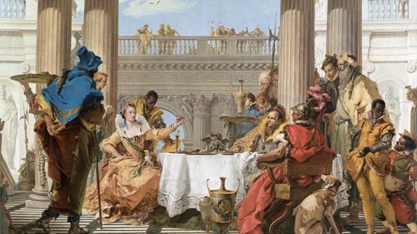 The Banquet of Cleopatra (1743-1744) Giambattista TIEPOLO