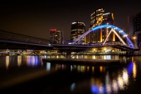 photo challenge 1 - Bridge melbourne-yarra-river-sunrise-rain