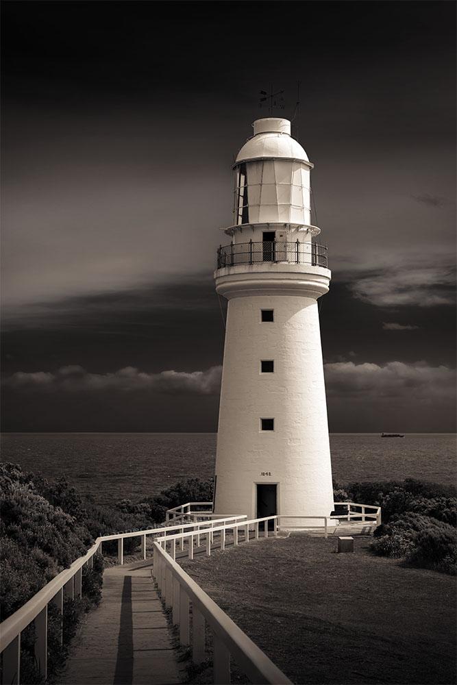 cape-otway-lighthouse-toned-monochrome