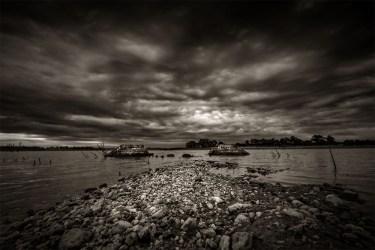 cairn-curran-reservoir-victoria-monochrome
