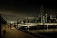 queens-street-bridge-park-bench-melbourne