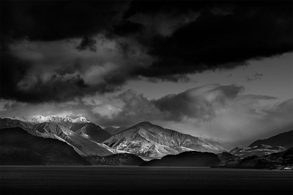 Monochrome Wednesday - New Zealand Mountains