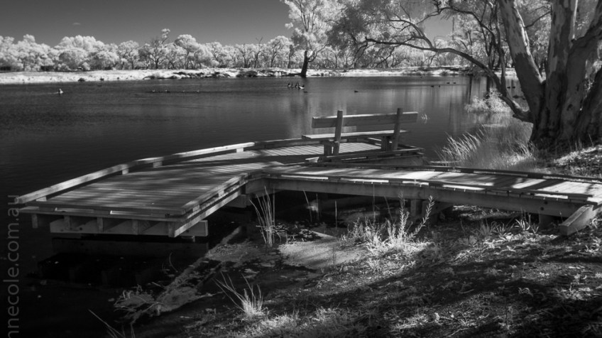 Weekend Wanderings - Hopetoun Lake in infrared