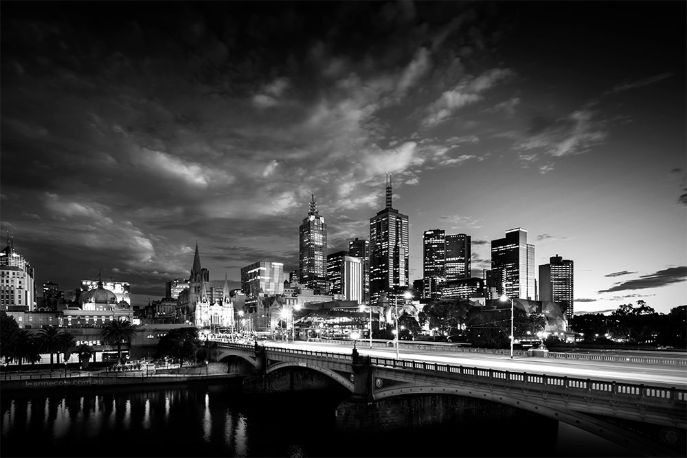 Monochrome Wednesday - Looking back at Melbourne
