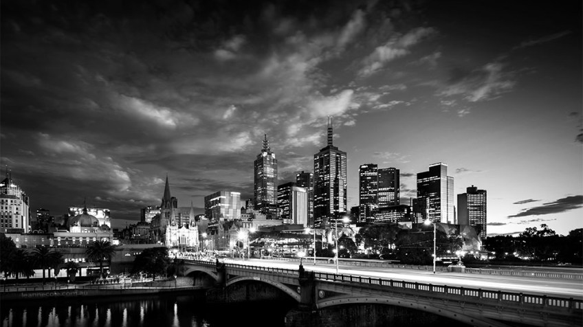Monochrome Wednesday - Look back at Melbourne