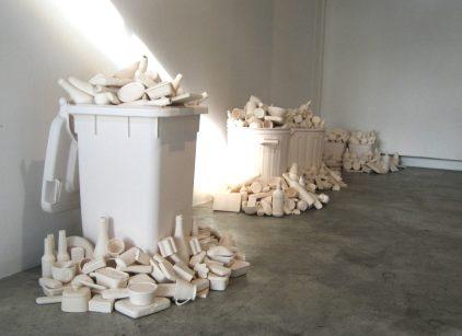 2 white trash installation