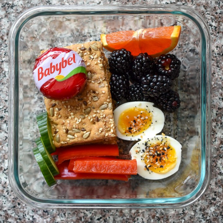 snack foods in glass container