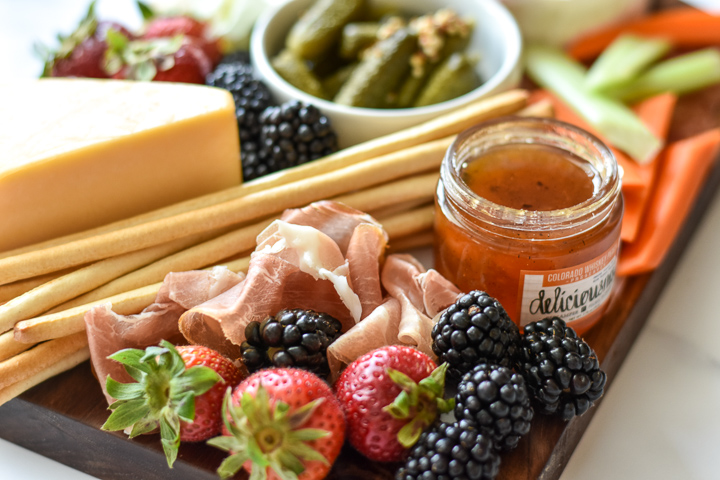 fresh fruit, meats and preserves