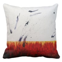 """Designer 2-sided Pillow - Side A, RED, """"Passions Flurry"""""""