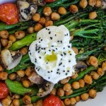 Warm garlic broccolini salad with ricotta