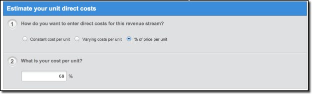 LivePlan Direct Costs