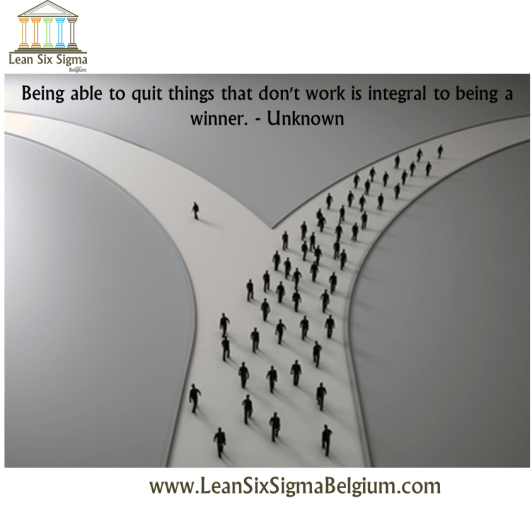 Quote - Being able to quit things that don't work is integral to being a winner. - Unknown