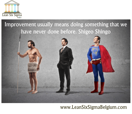 Quote - Improvement usually means doing something that we have never done before. Shigeo Shingo