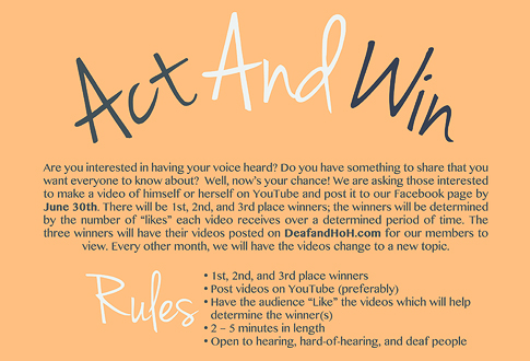 Act and Win Contest