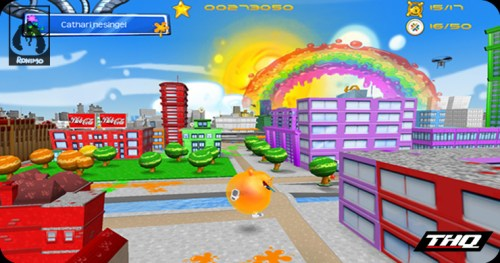 Screenshot of De Blob, created by Ronimo Games, published by THQ