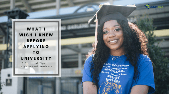 what I wish i knew before applying for university