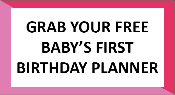 Baby's First Birthday Planner