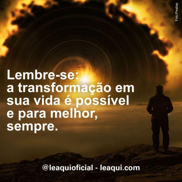transformação em sua vida é possível