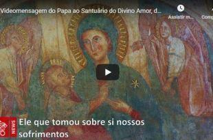 retrato bizantino de nossa senhora segurando menino jesus onde tem oração do Papa Francisco