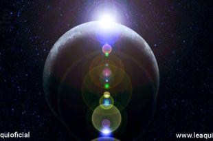 imagem do planeta terra com luzes brilhado vindo do alto Armagedom Espiritual
