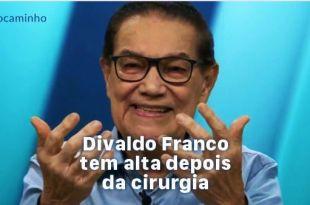 foto de Divaldo Franco falando Divaldo Franco recebeu alta