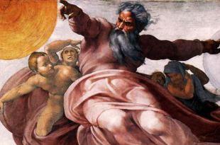 imagem da capela sistina no vaticano Deus criando sol e lua Deus mandou pandemia