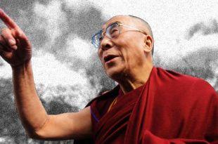 Dalai lama apontando para um caminho Dalai Lama felicidade