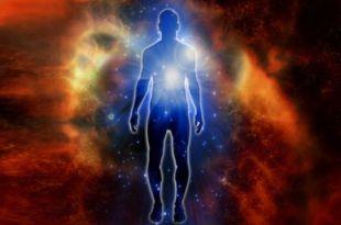 imagem de uma forma humana delimitada por luminescência perispírito