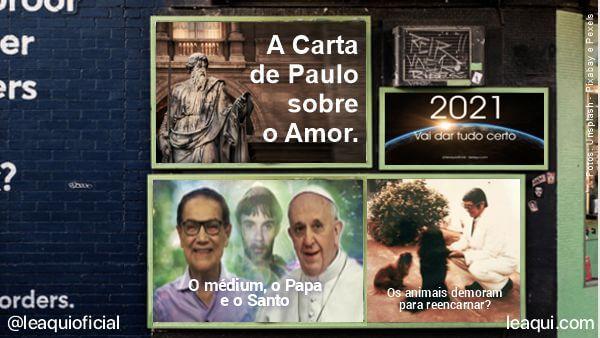 montagem fotográfica de uma parede com vários cartazes de propaganda e os posts mais visto do 3° trimestre Retrospectiva LêAqui 3º trimestre 2020