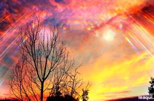 imagem de um por do sol dramático espírito Ismael pandemia covid-19