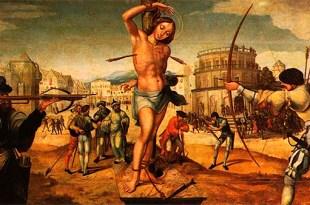 pintura clássica do martírio de São Sebastião