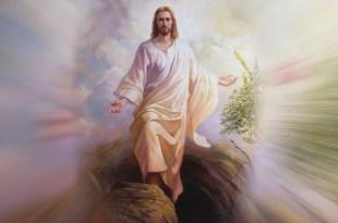 Jesus ressuscitando Domingo de Páscoa